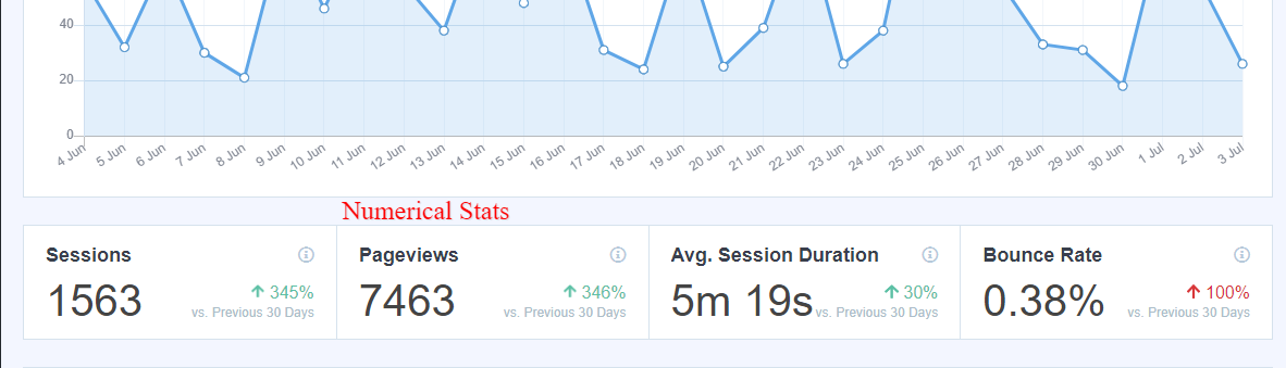 website statistics with monster insight